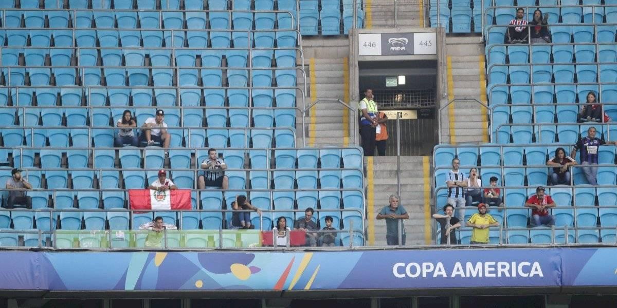 Gradas vacías en la Copa América preocupa a las autoridades