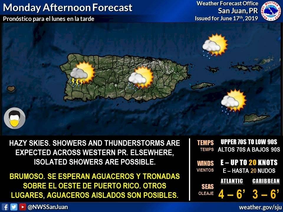 Pronóstico del clima para Puerto Rico