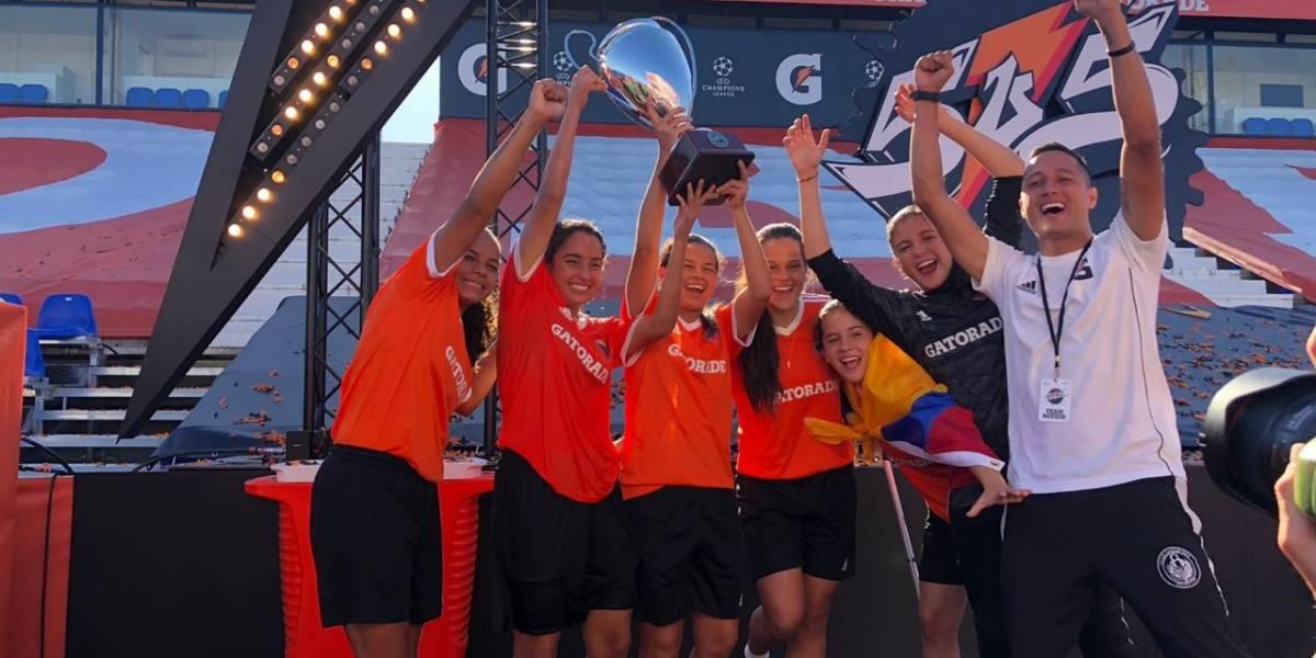 En España, jóvenes futbolistas colombianas vencieron a Brasil y son campeonas del mundo