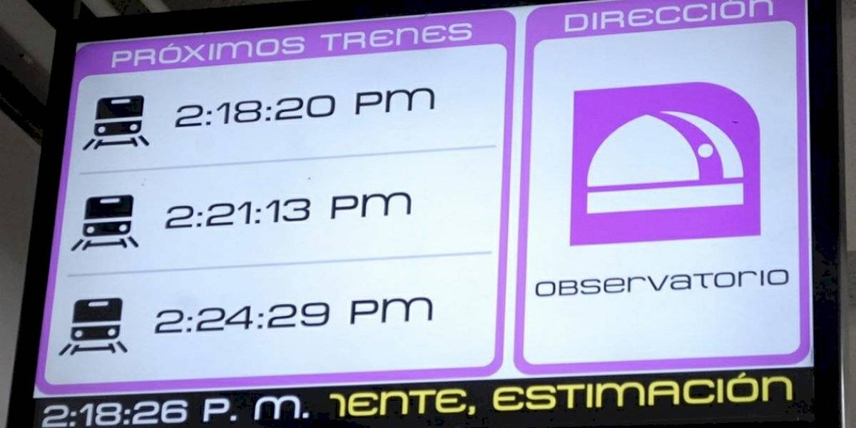 Metro de CDMX te avisa en tiempo real el arribo de trenes a la estación