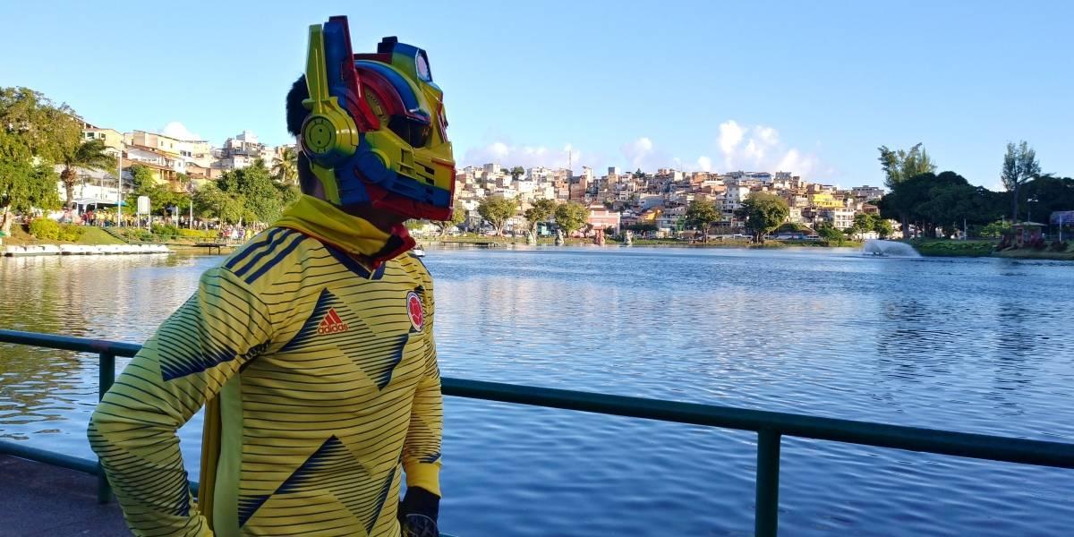Colombius, el superhéroe que sigue a la Tricolor a todos lados