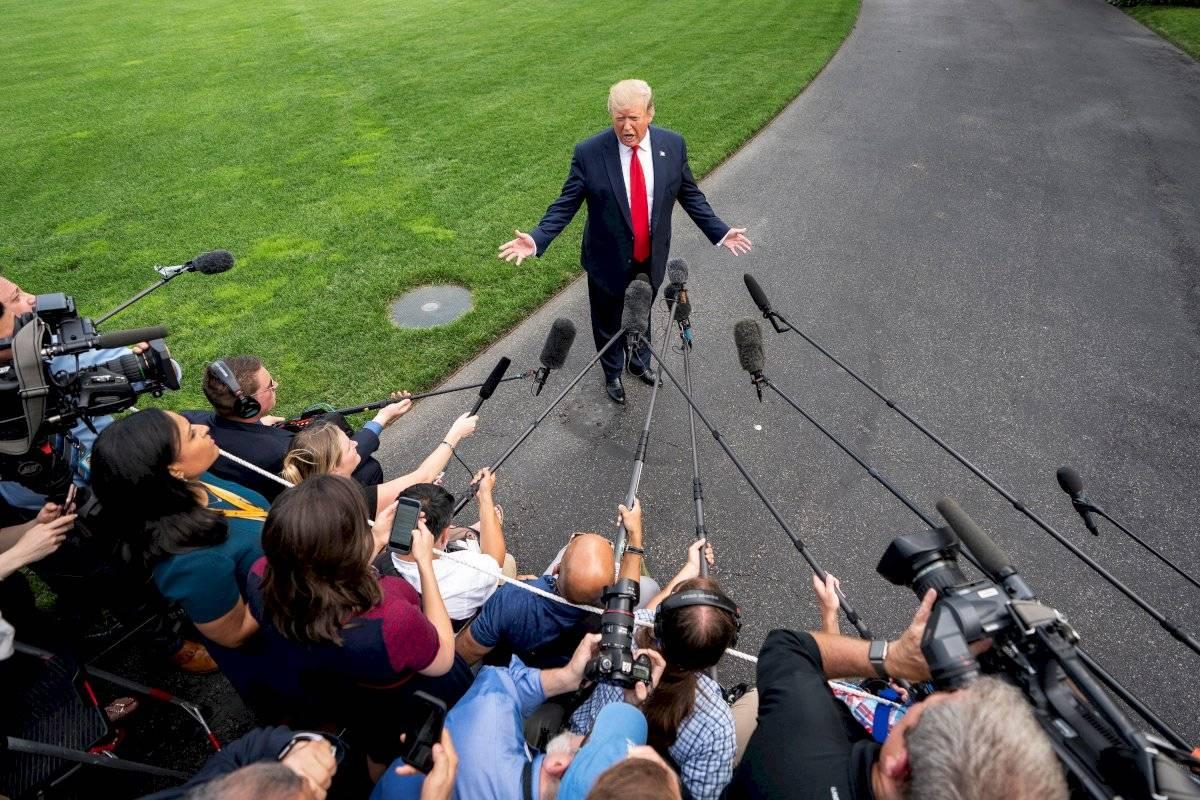 Donald Trump lanzó eufóricamente su campaña para la reelección EFE
