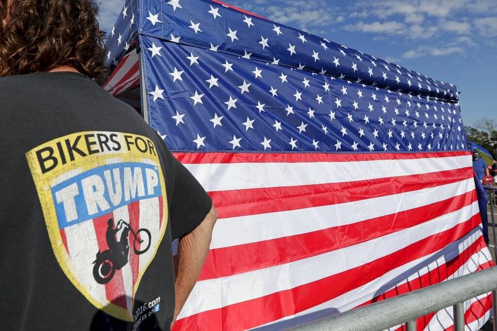 Escenas previas al evento de reelección de Donald Trump Foto: AP