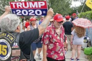 Escenas previas al evento de reelección de Donald Trump