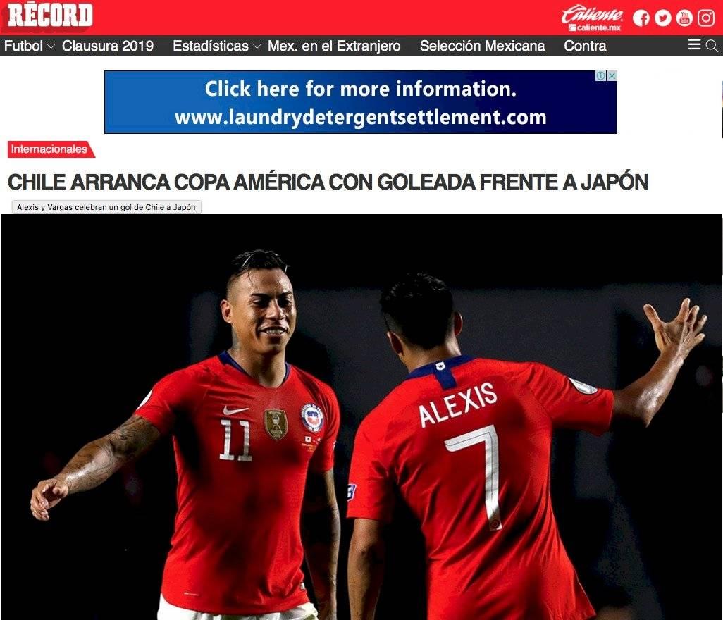 La prensa internacional hizo eco del triunfo de Chile. Medios internacionales