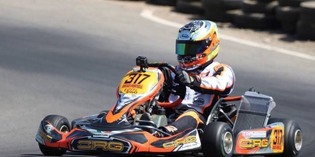 Diego Portell comienza a probarse la corona del Campeonato Nacional de karting