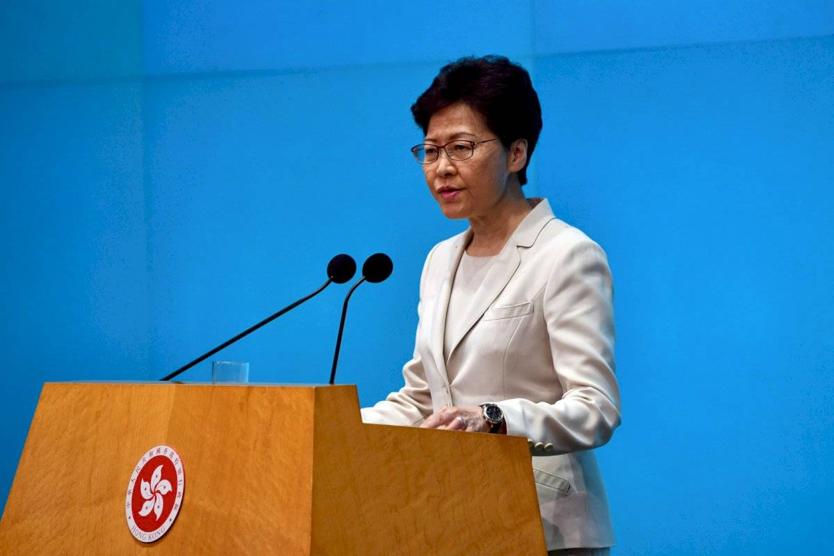 Carrie Lam, jefa de Gobierno de Hong Kong Foto: Getty Images