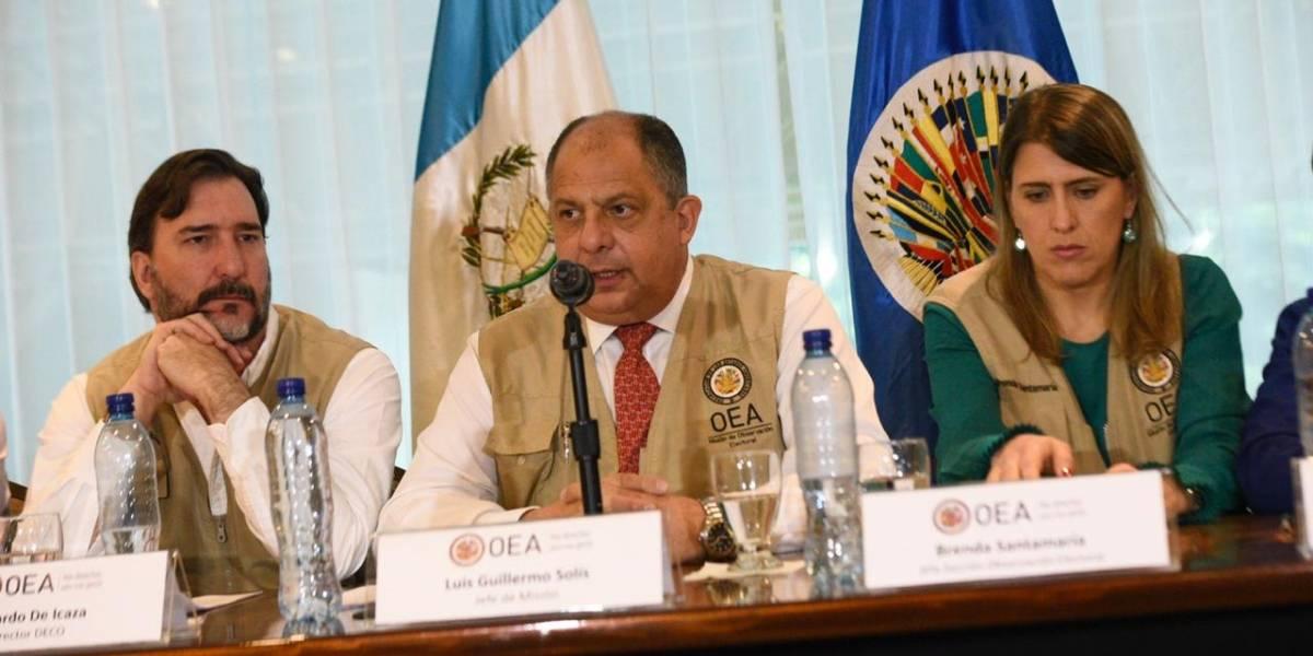 Misión de Observación de OEA descarta fraude electoral