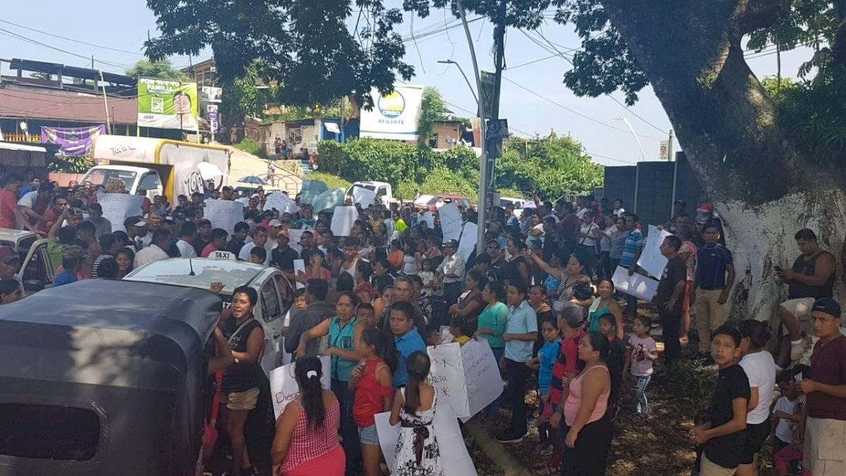 Protesta en San Marcos