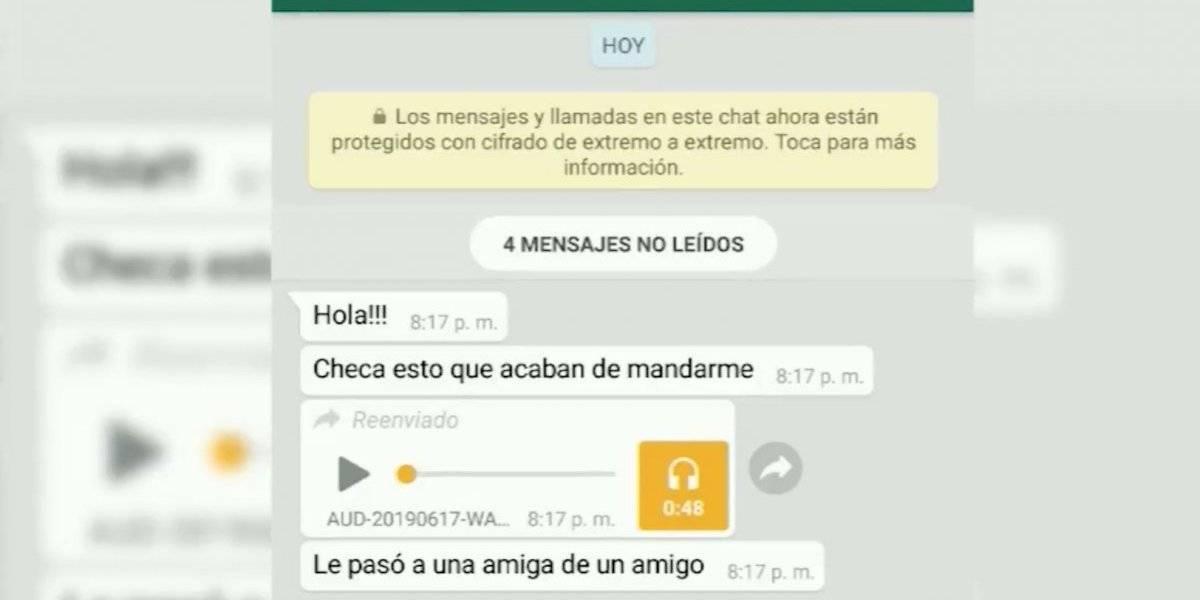 """Desmienten audio de WhatsApp sobre """"ladrón en cajuela"""""""