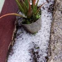 Caída de granizo en Sololá