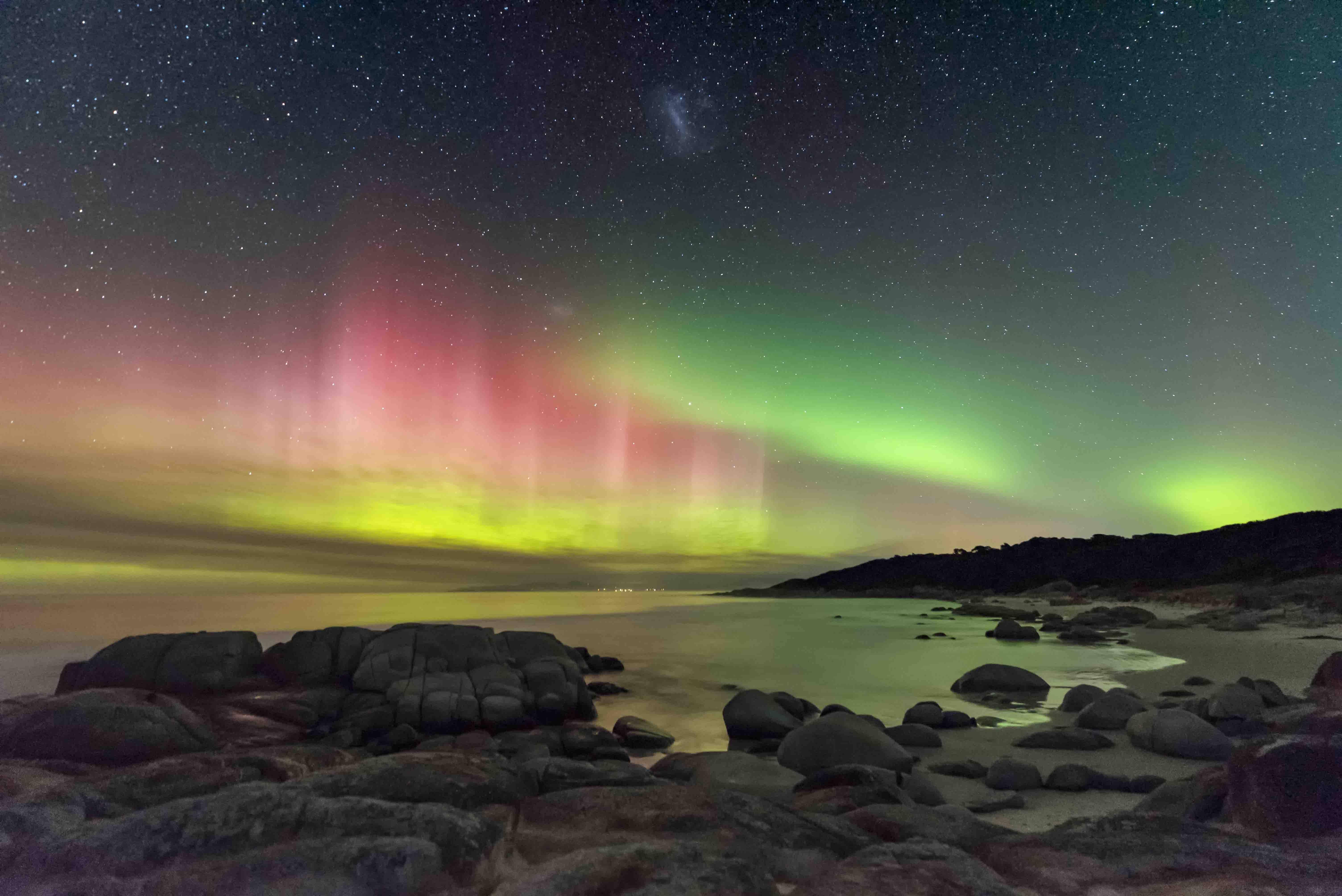 Aurora Australis from Beerbarrel Beach