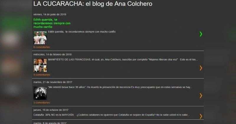 Mensaje de Ana Colchero a Edith González