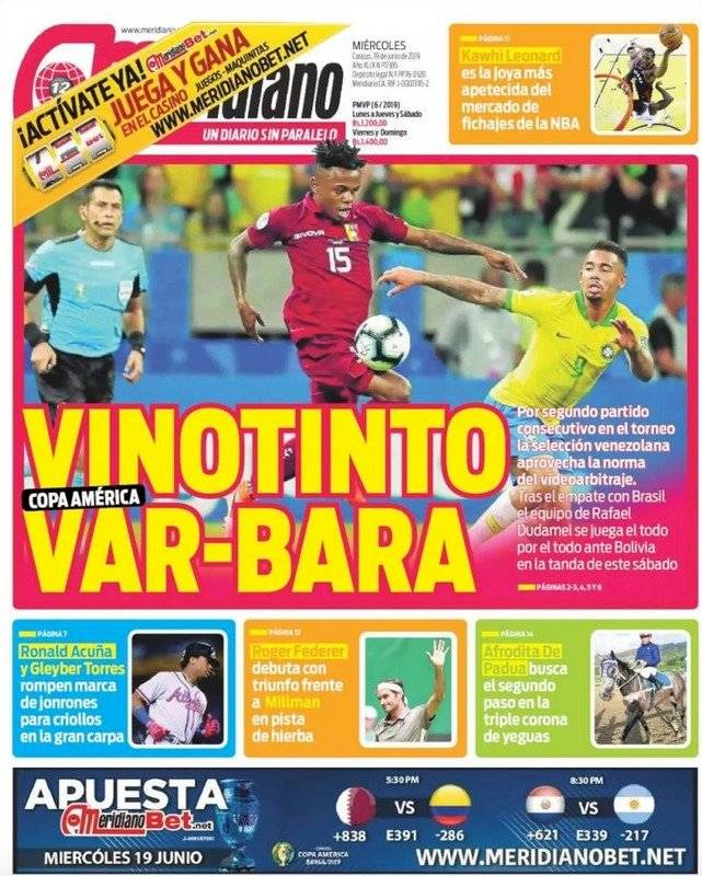 La prensa venezolana Reproducción