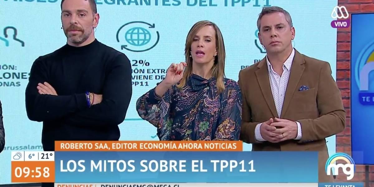 """Les dolió: """"Mucho Gusto"""" se defendió y explicó qué es el TPP11 tras incómodo momento en vivo"""