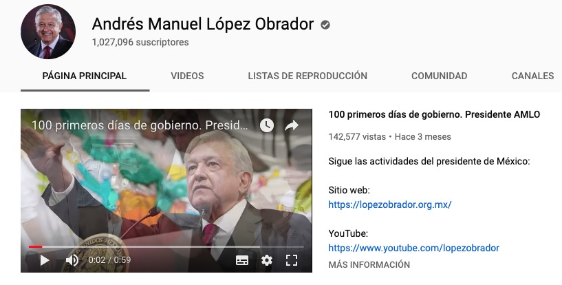 AMLO Youtube