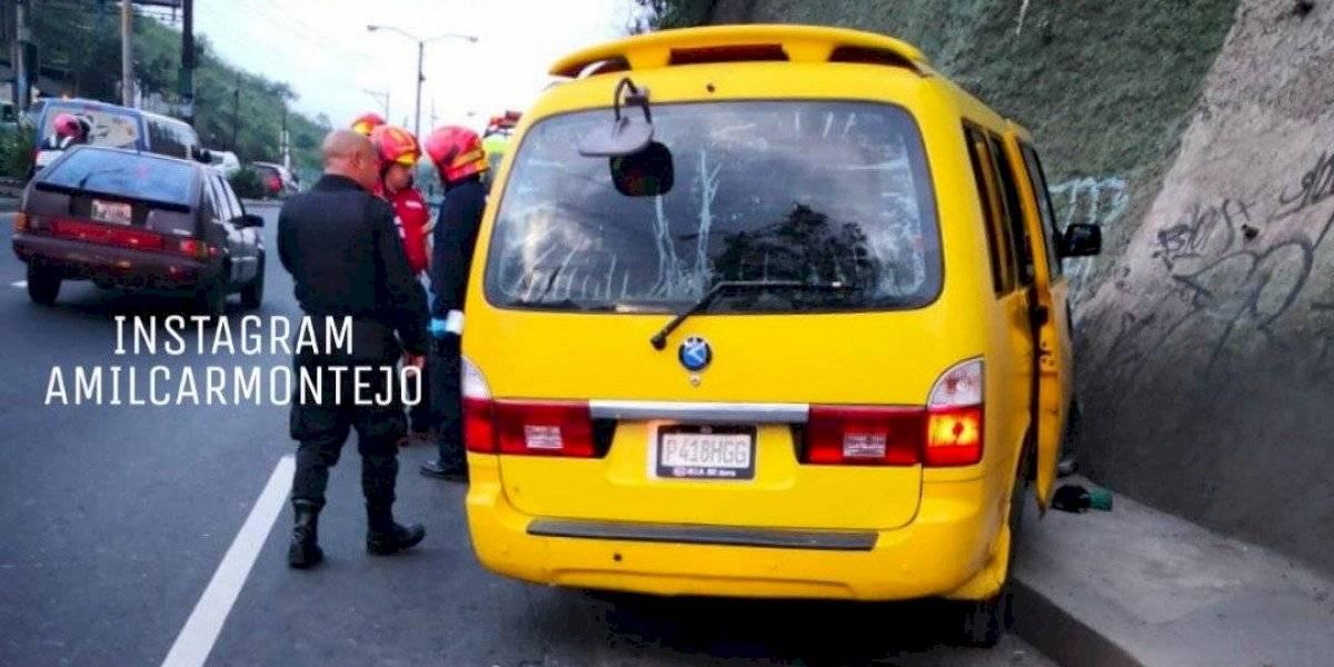 Asesinan a piloto de microbús en zona 18