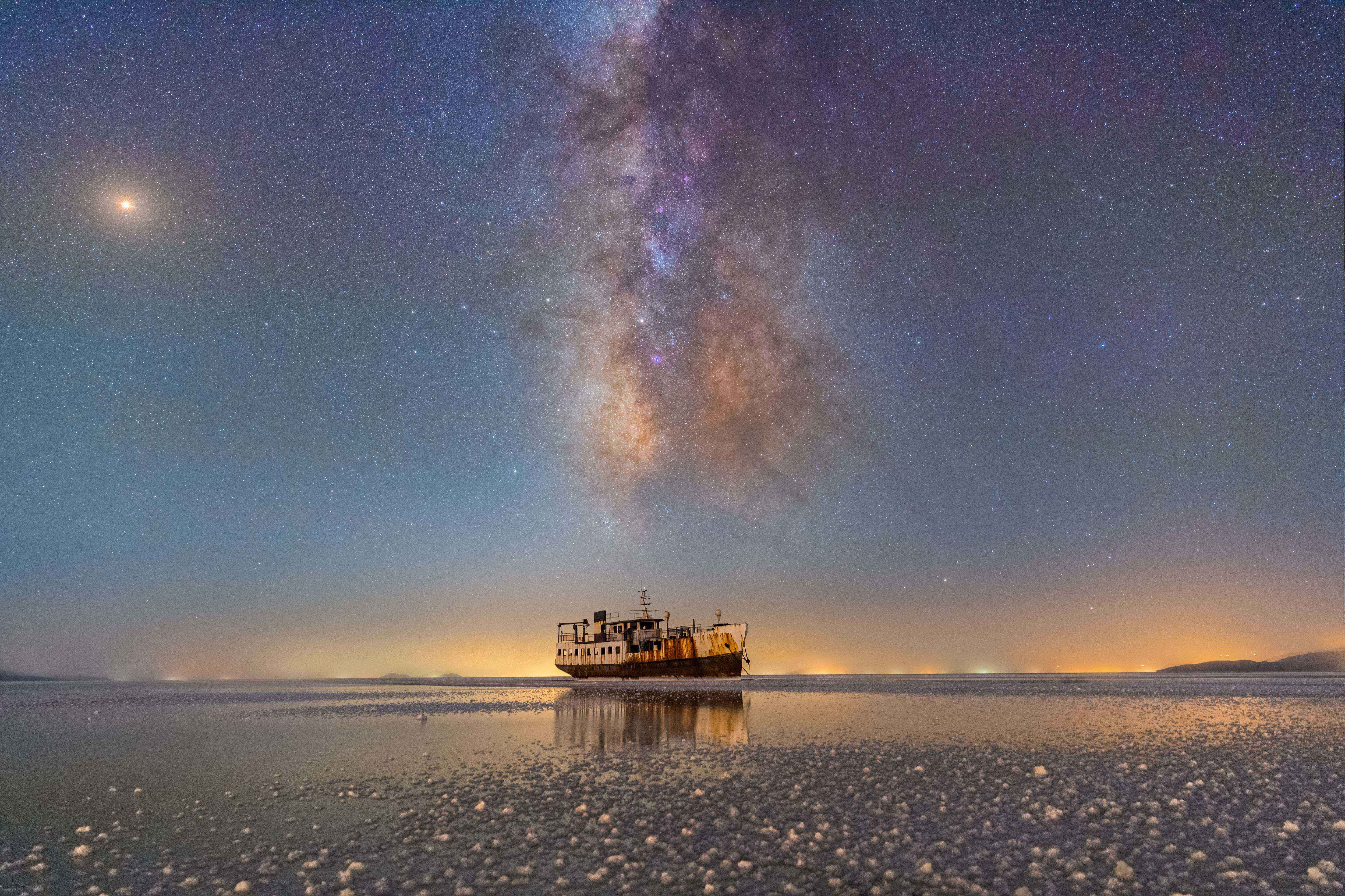Sharafkhaneh Port and Lake Urmia