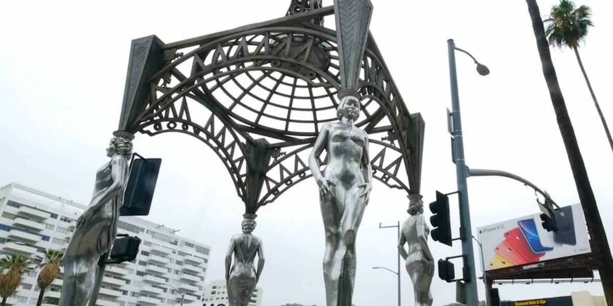 Roban estatua de Marilyn Monroe en Hollywood