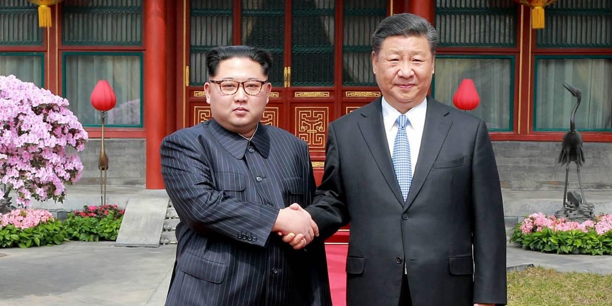 Presidente de China realiza su primera visita a Corea del Norte