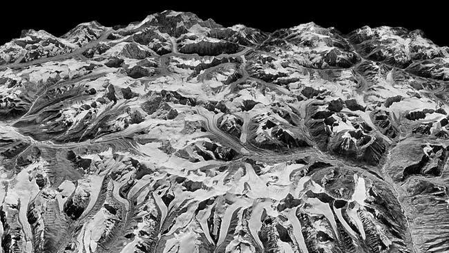 Satélite espía de la guerra fría reveló el preocupante estado en el que se encuentra el Himalaya
