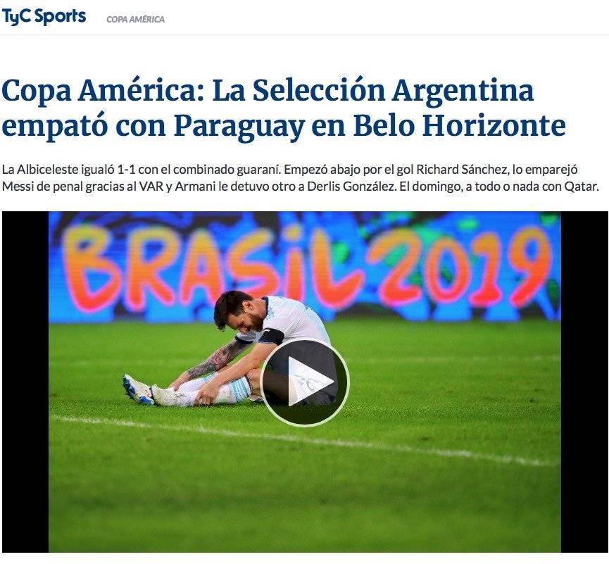 La prensa argentina se fue con todo contra su selección. Prensa argentina