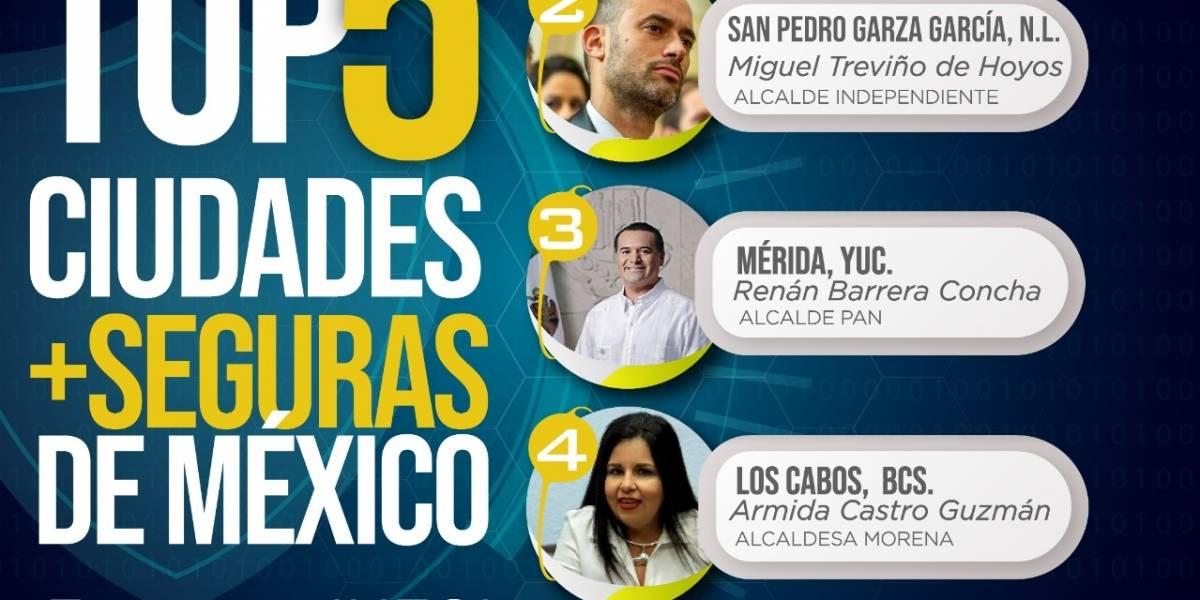 Las 5 ciudades más seguras de México y sus alcaldes