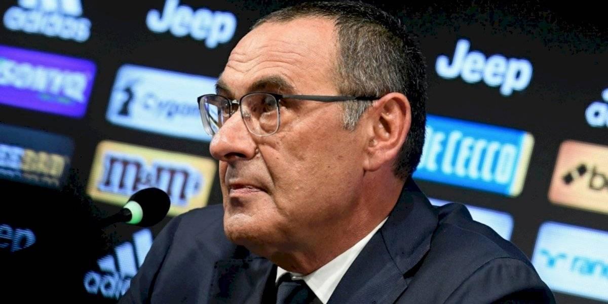 Maurizio Sarri se perderá el debut de la Juventus en la Serie A
