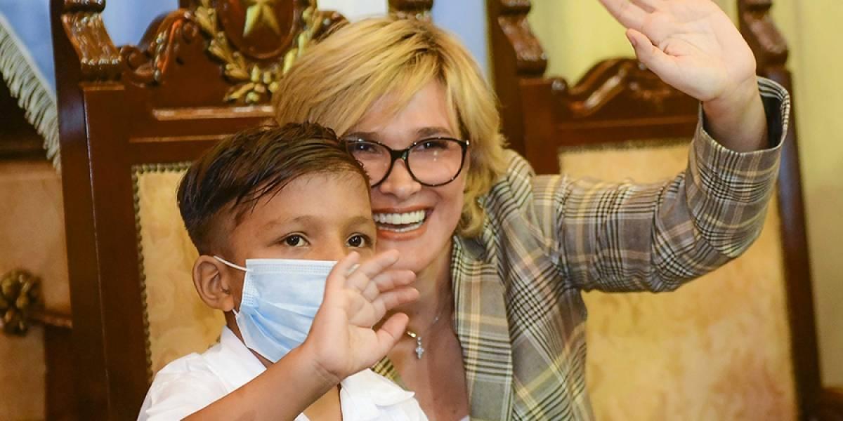 Sergio, el niño que fue alcalde de Guayaquil por un día