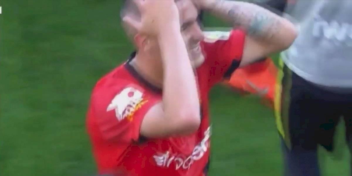 Jugador del Mallorca entra con los tacos por delante sobre rostro de rival