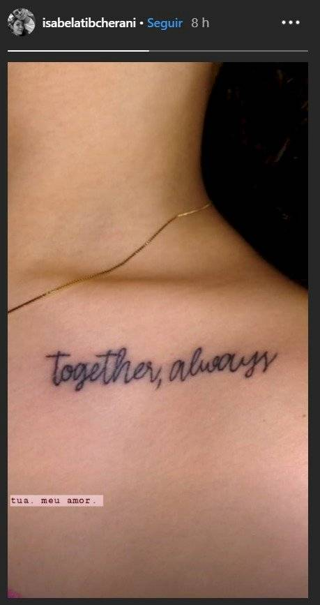 Tatuagem Isabela Tibcherani