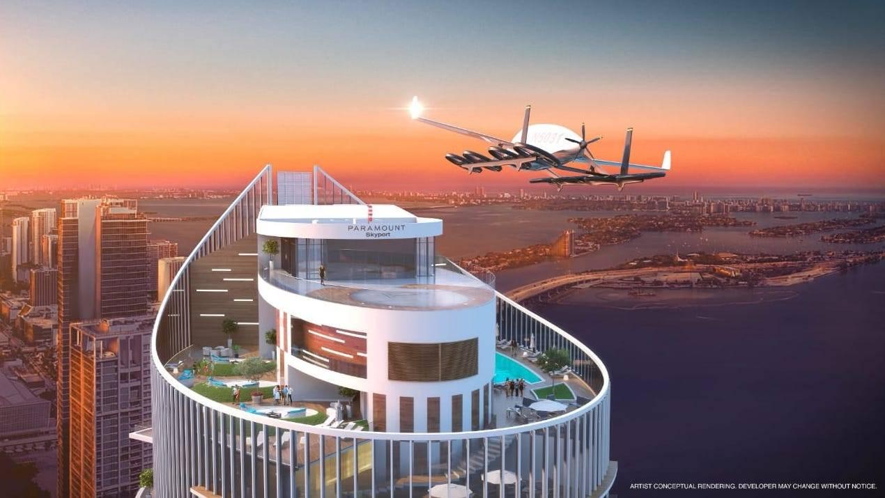 Ya están construyendo en Miami el que será el primer estacionamiento para vehículos voladores del mundo