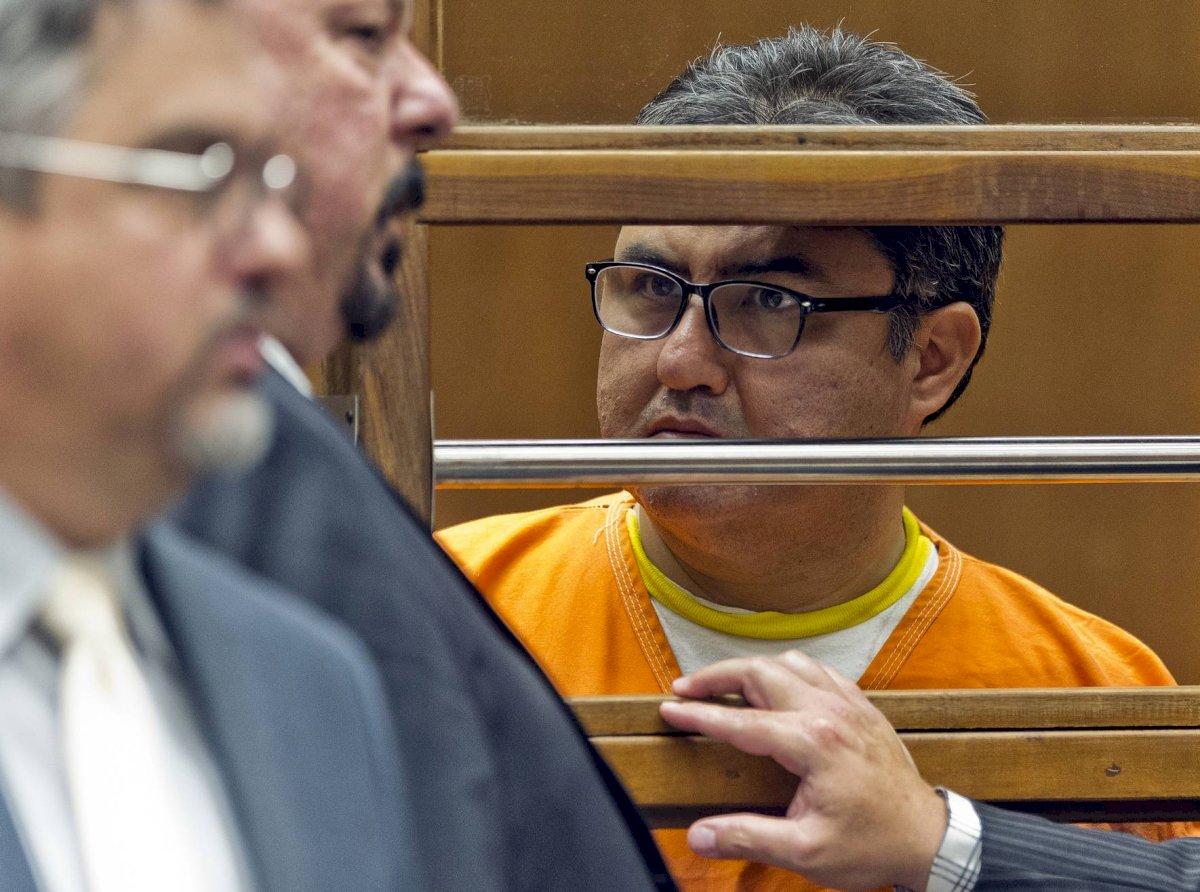 Naasón Joaquín García, líder de la Iglesia La Luz del Mundo, durante una audiencia en la Corte Superior del Condado Los Ángeles, el viernes 21 de junio de 2019.