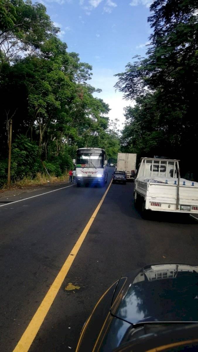 Manifestantes bloquean paso de Retalhuleu a Quetzaltenango