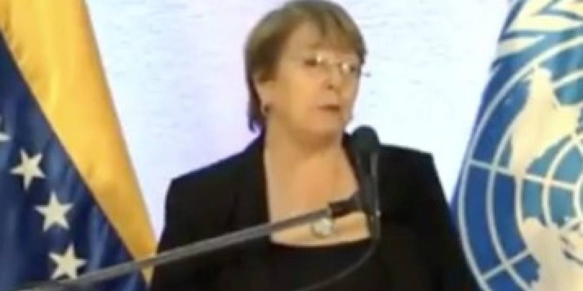 "Alta Comisionada Michelle Bachelet al término de su gira: ""Me duele la gente de Venezuela"""