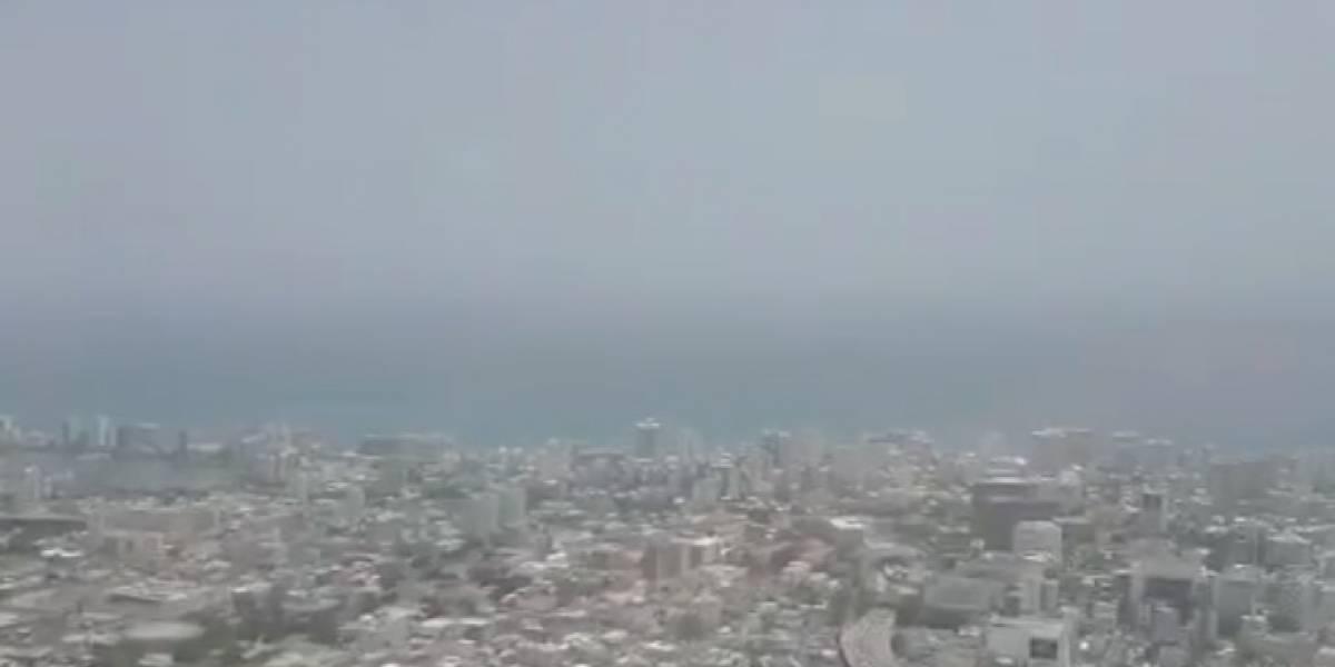 Meteoróloga comparte video aéreo de la bruma que arropa San Juan