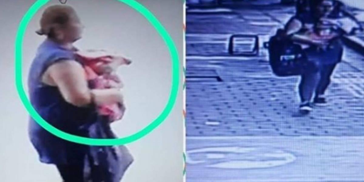 Roban bebé dentro de centro comercial en Colombia y el acto queda registrado en video