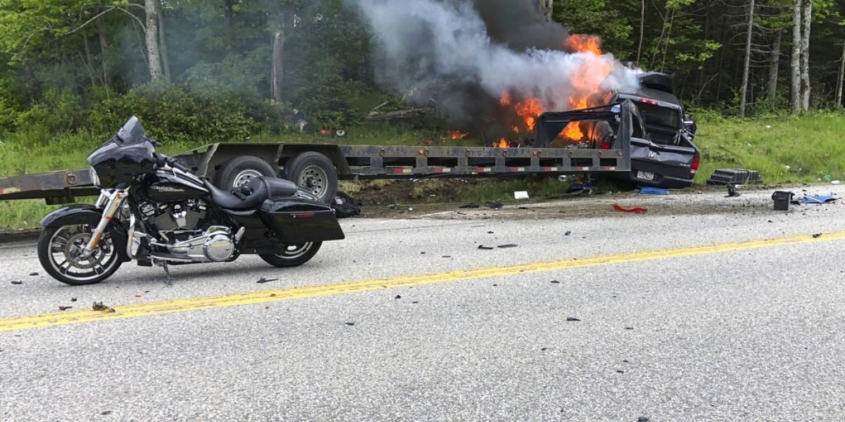 Reportan 7 muertos y 3 heridos en choque de camión con motos en Estados Unidos