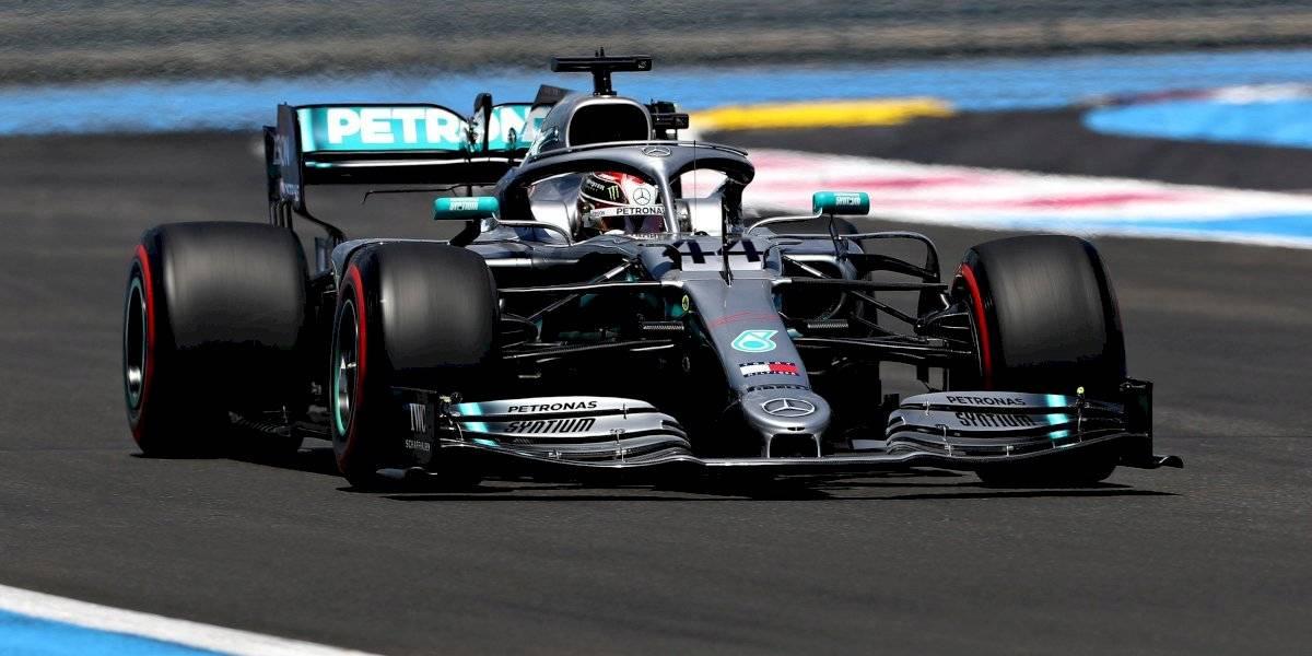 Hamilton se queda con la pole en el GP de Francia; Checo quedó fuera del top 10