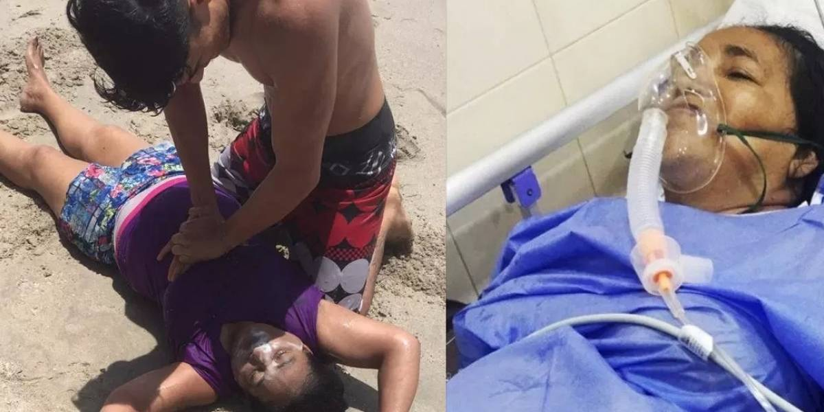 Nadadora inexperta se metió a mar colombiano y esto le sucedió
