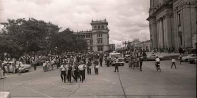 Desfile de los Bomberos Voluntarios.
