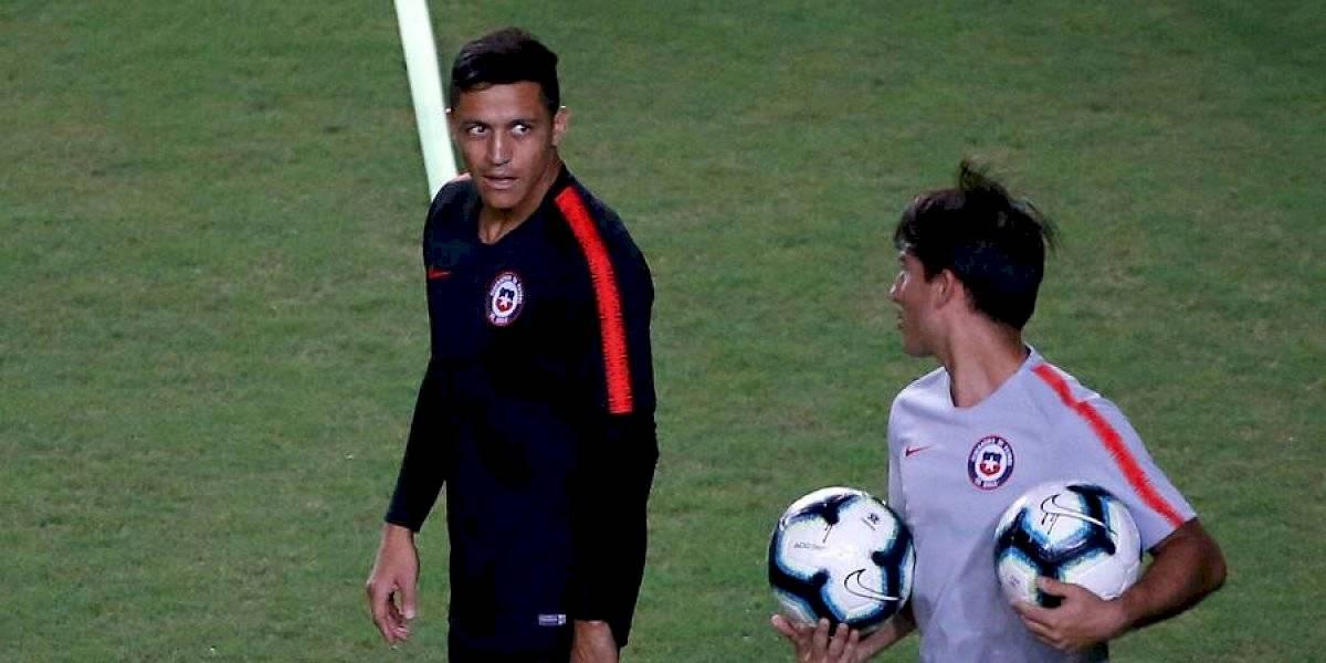 Chile entrenó pensando en Uruguay y con la preocupación de la lesión de Alexis Sánchez