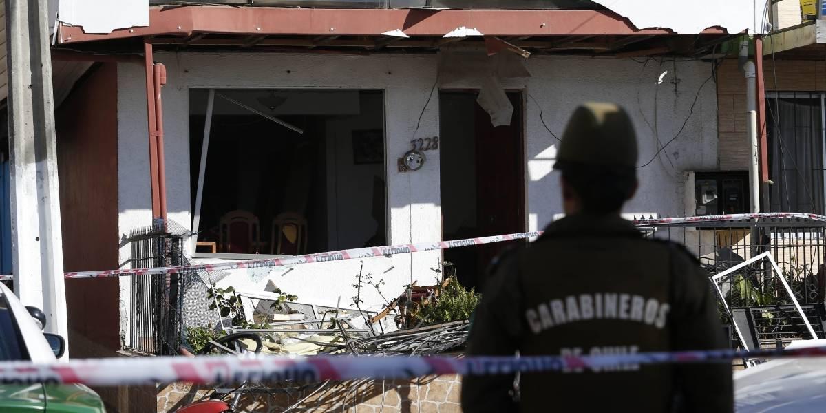 Explosión en Viña del Mar deja a una mujer herida y una casa destruida