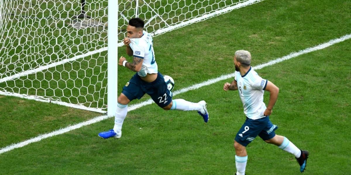 La dupla de delanteros metió a Argentina en los cuartos de final de la Copa América tras vencer a Catar