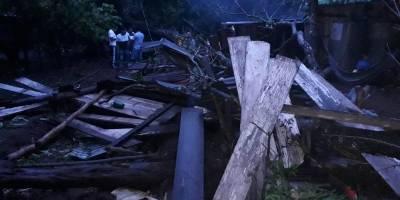 Casas dañadas por lluvias en Suchitepéquez