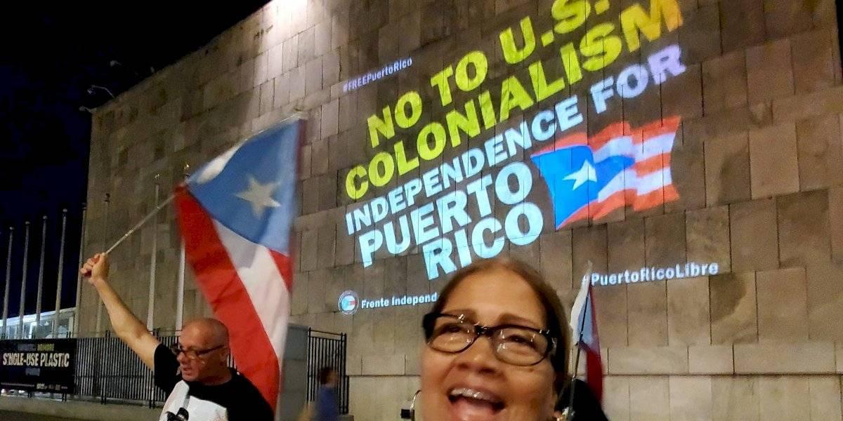 Proyectan imágenes en la ONU exigiendo independencia de Puerto Rico