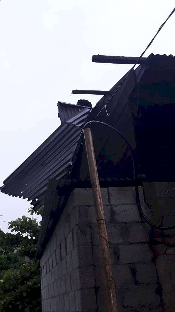 Casas dañadas por lluvias en Suchitepéquez Cortesía