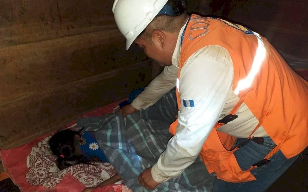 Casas dañadas por lluvias en Suchitepéquez Foto: Cortesía