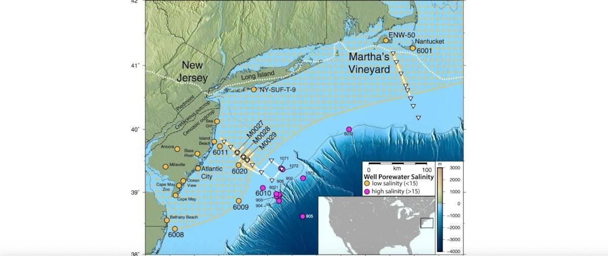 El acuífero al noreste de EE. UU.