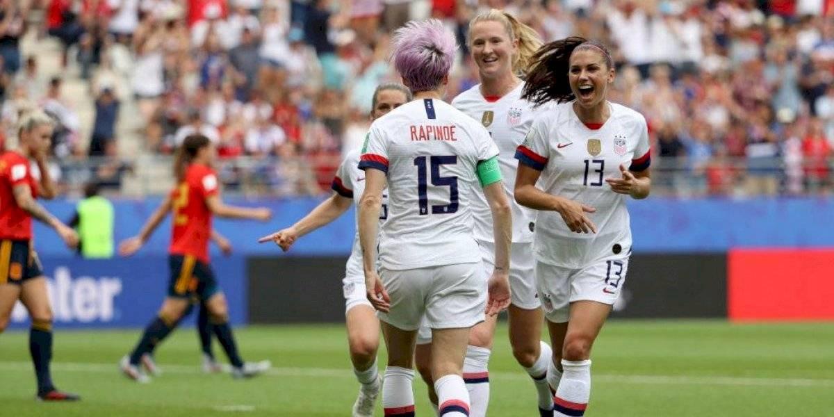 Estados Unidos sufre contra España pero igual se mete en los cuartos de final del Mundial Femenino